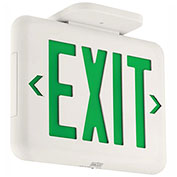 Hubbell EVEUGW Compact Architectural LED Exit Sign, White w/ Green Letters, 120/277V