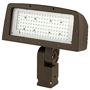 Hubbell FLL-150-4K-U-K  Architectural LED Large Flood, 150W, 14000L,4000K,Glass,Knuckle Mount,Bronze