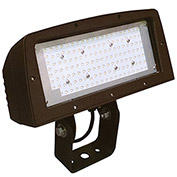 Hubbell FLL-150-4K-U-Y Architectural LED Large Flood, 150W, 14000L, 4000K,Glass, Yoke Mount, Bronze