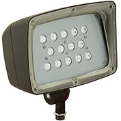 Hubbell FML-14-PCU Architectural LED Med Flood, 53W, 4285L, 5000K, Glass, Knuckle Mount, Bronze w/PC
