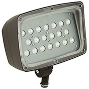 Hubbell FML-14 Architectural LED Medium Flood, 53W, 4285L, 5000K, Glass, Knuckle Mount, Bronze