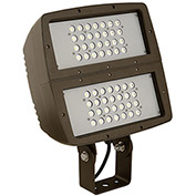 Hubbell FXL-190Y Architectural LED Large Floodlight, Bronze, Temp. Glass, w/Yoke, 21000L,187W, 5000K