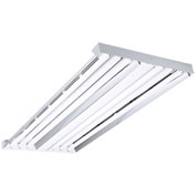 Hubbell LHA4-654-NU-24EPU 4' Fluorescent High Bay, Uses 6-54W T5HO lamps not incl, Narrow dist wup