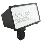 Hubbell MHS-K-30LU-5K-M-BZ Miniliter LED Floodlight, 70W, 7700L, 5000K, Medium Dist, Knuckle, Bronze