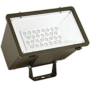 Hubbell MHS-Y-30LU-5K-M-BZ Miniliter LED Floodlight, 70W, 7800L,  5000K, Medium 3x3 Dist., Bronze