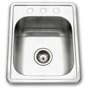 Houzer A1722-7BS-1 ADA Drop In Stainless Steel 3-Hole Bar/Prep Sink