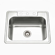 Houzer A2522-65BS3-1 ADA Drop In Stainless Steel 3-Hole Single Bowl Sink