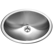 Houzer CHO-1800-1 Undermount Stainless Steel Oval Bowl Lavatory Sink w/ Overflow