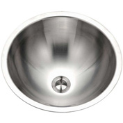 Houzer CRO-1620-1 Conical Undermount Stainless Steel Lavatory Sink with Overflow