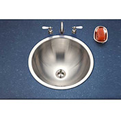 Houzer CRTO-1620-1 Conical Drop In Stainless Steel Lavatory Sink with Overflow