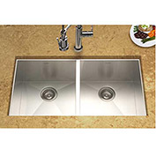 Houzer CTD-3350 Undermount Stainless Steel 50/50 Double Bowl Kitchen Sink