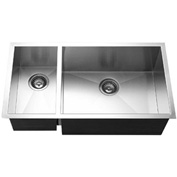 Houzer CTO-3370SL Undermount Stainless Steel 70/30 Double Bowl Kitchen Sink