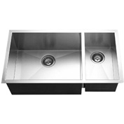 Houzer CTO-3370SR Undermount Stainless Steel 70/30 Double Bowl Kitchen Sink