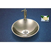 Houzer CV-1625-1 Stainless Steel Single Bowl Lavatory Vessel Sink, Mirror Finish