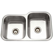 Houzer EC-3208SL-1 Undermount Stainless Steel 60/40 Double Bowl Kitchen Sink