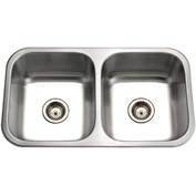 Houzer ED-3108-1 Undermount Stainless Steel 50/50 Double Bowl Kitchen Sink
