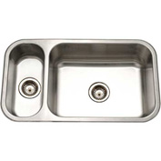 Houzer EHD-3118-1 Undermount Stainless Steel 70/30 Double Bowl Kitchen Sink