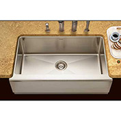 Houzer EPG-3300 Apron Front Farmhouse Stainless Steel Single Bowl Kitchen Sink