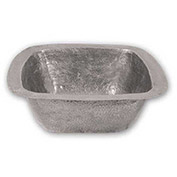 Houzer HW-LAG2BF Hammerwerks Undermount Copper Single Bowl Bar/Prep Sink, Pewter