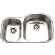 Houzer MC-3210SL-1 Undermount Stainless Steel 70/30 Double Bowl Kitchen Sink