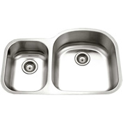Houzer MC-3210SR-1 Undermount Stainless Steel 70/30 Double Bowl Kitchen Sink