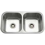 Houzer MD-3109-1 Undermount Stainless Steel 50/50 Double Bowl Kitchen Sink