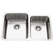 Houzer MES-3221-1 Undermount Stainless Steel 60/40 Double Bowl Kitchen Sink