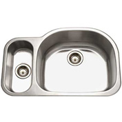 Houzer MG-3209SL-1 Undermount Stainless Steel 70/30 Double Bowl Kitchen Sink