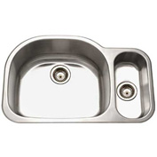 Houzer MG-3209SR-1 Undermount Stainless Steel 70/30 Double Bowl Kitchen Sink
