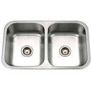Houzer MGD-3120-1 Undermount Stainless Steel 50/50 Double Bowl Kitchen Sink
