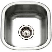 Houzer MS-1708-1 Undermount Stainless Steel Square Bowl Bar/Prep Sink