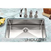 Houzer NOG-4150 25mm Radius Undermount Stainless Steel Large Single Bowl Sink