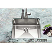 Houzer NOS-4100 25mm Radius Undermount Stainless Steel Single Bowl Kitchen Sink