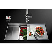 Houzer NVS-5200 Dual Level Undermount Stainless Steel Single Bowl Kitchen Sink
