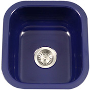 Houzer PCB-1750 NB Porcelain Enamel Steel Undermount Bar/Prep Sink, Navy Blue