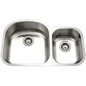 Houzer PNC-3200SR-1 Undermount Stainless Steel 70/30 Double Bowl Kitchen Sink