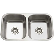 Houzer PND-3100-1 Undermount Stainless Steel 50/50 Double Bowl Kitchen Sink