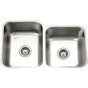 Houzer PNE-3300SR-1 Undermount Stainless Steel 60/40 Double Bowl Kitchen Sink