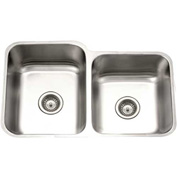 Houzer STE-2300SR-1 Undermount Stainless Steel 60/40 Double Bowl Kitchen Sink