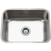Houzer STS-1300-1 Undermount Stainless Steel Single Bowl Kitchen Sink