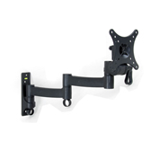 "TygerClaw LCD271BLK 10""-24"" Full Motion Monitor Wall Mount - Black"