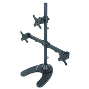 TygerClaw LCD6003 Triple-Arm Monitor Desk Mount - Black