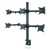 "TygerClaw LCD6016BLK 13""-24"" Six Monitor Desk Mount - Black"