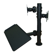 TygerClaw LCD6502BLK Back-to-Back Dual Monitor Desk Mount - Black