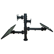 TygerClaw LCD6503BLK Back-to-Back Dual Monitor Desk Mount - Black