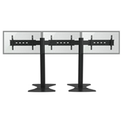 "TygerClaw LVW8604 Triple Monitor TV Stand for 30""-60"" TVs - Black"
