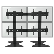 "TygerClaw LVW8605 Quad Monitor TV Stand for 30""-60"" TVs - Black"