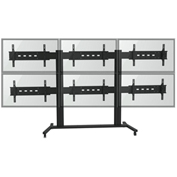 "TygerClaw LVW8609 6 Monitor TV Stand for 30""-60"" TVs - Black"
