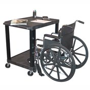 "Tuffy Increased Access Workstation - 32""W x 24""D x 42""H Black"