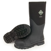 """Muck Boots CHS-000A Chore Hi-Safety Toe Workboot, 16"""" Height, Size 11, Black"""